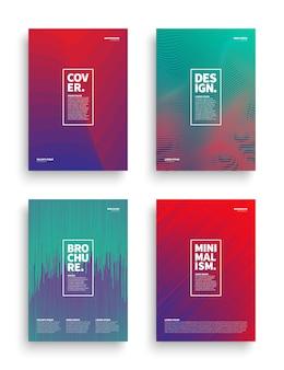 Векторный набор брошюра листовка дизайн шаблона