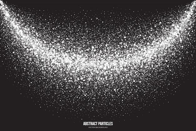 白いキラキラ輝く粒子の抽象的な背景