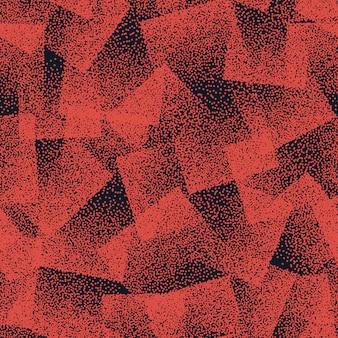 オレンジ色の点描奇妙な抽象的なシームレスパターン