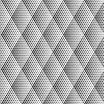 ハーフトーン菱形シームレスパターン