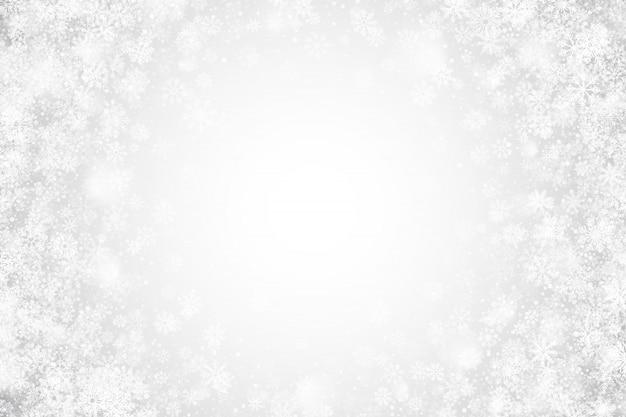 ホワイトクリスマスクリアな抽象的な背景
