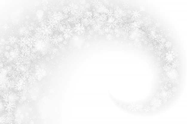 旋回雪効果白の抽象的な背景