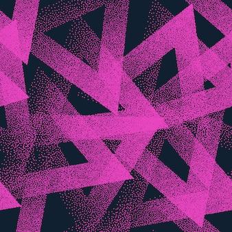 抽象的な点描三角形のシームレスパターン