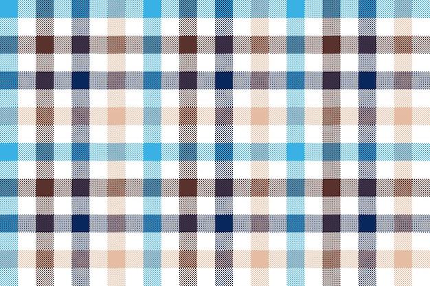ブルーベージュチェック格子縞のシームレスパターン