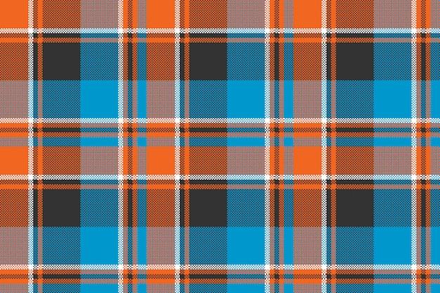 Оранжевый синий текстура ткани бесшовный фон