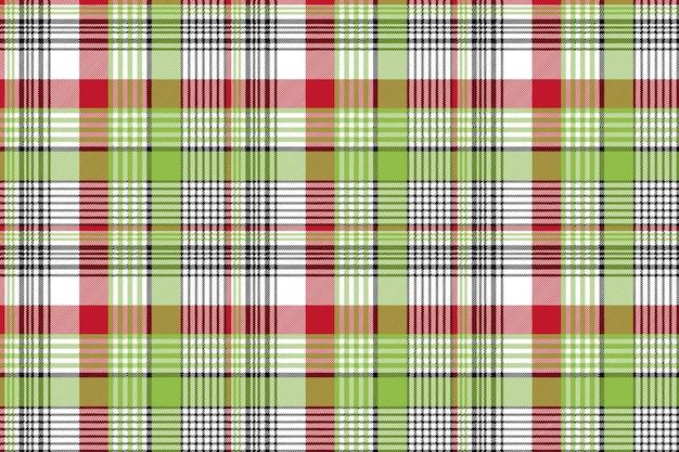 赤い緑チェック生地のテクスチャのシームレスな背景
