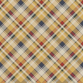 黄色の格子縞チェック生地テクスチャのシームレスパターン