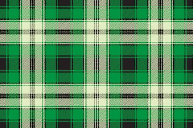 緑のチェック柄のシームレスなファブリックのテクスチャ