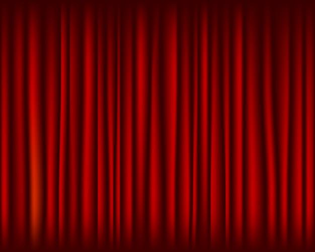 ステージのシームレスなテクスチャの赤いカーテン