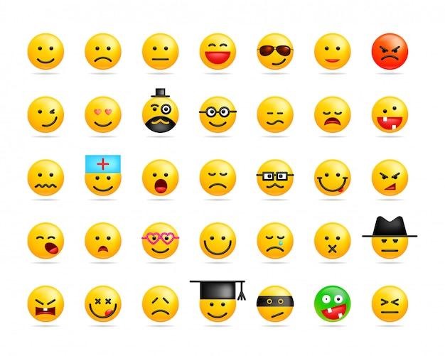 Большой набор смайликов улыбок