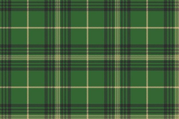 緑のチェック柄タータンシームレスパターン