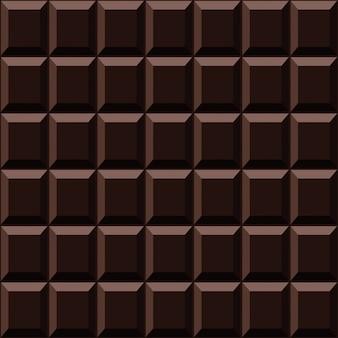 ダークチョコレートのシームレスパターン甘いテクスチャ