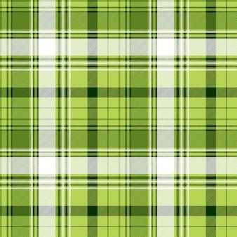 Текстура ткани зеленого ирландского тартана