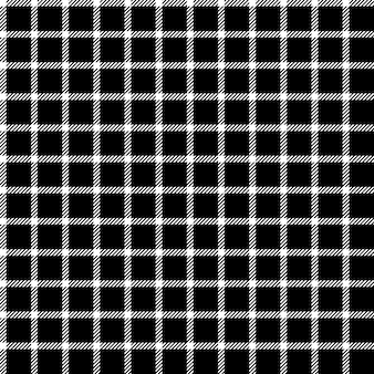 メッシュブラックチェック飾りシームレスパターン