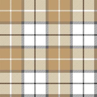 ゴールドプラチナ格子縞格子縞のシームレスパターン。