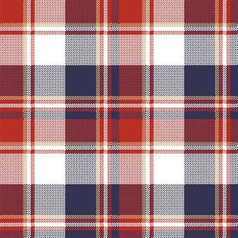 格子縞の織物タータンシームレスパターン。