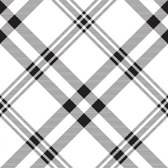格子縞の黒白いシームレスパターン