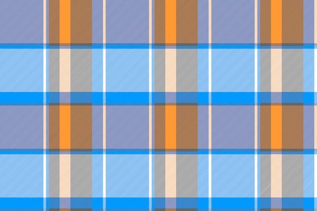 Оранжевый синий серый клетчатый клетчатый узор бесшовные