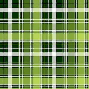 緑のアイルランドの斜めの抽象的な格子縞のシームレスパターン