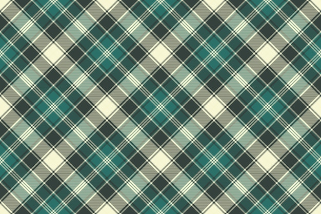 Зеленая клетчатая текстура ткани бесшовный фон