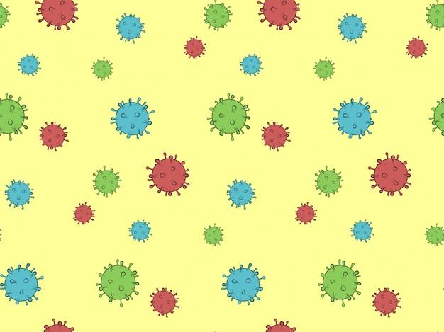 ウイルスのシームレスなパターン。