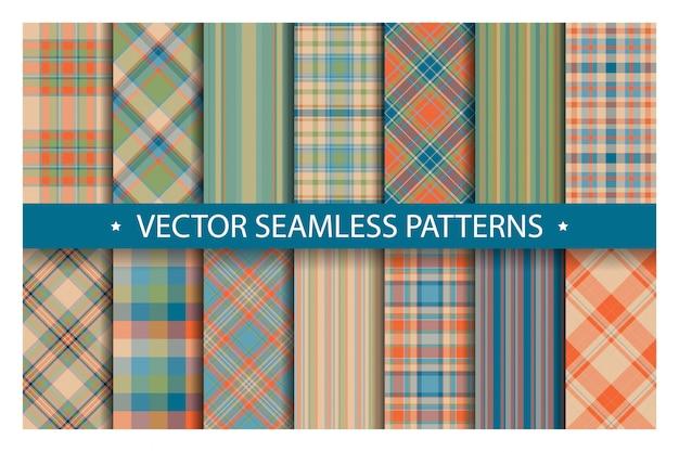 格子縞のパターンをシームレスに設定します。タータンパターンの生地のテクスチャ。