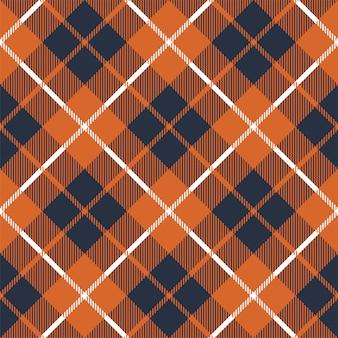 オレンジチェックチェック柄のシームレスパターン