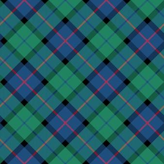 Цветок шотландского тартана бесшовная диагональная текстура ткани