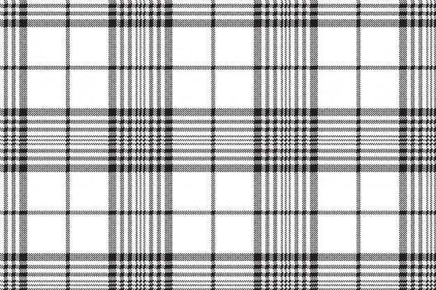 黒と白のピクセルチェック格子縞のシームレスパターン
