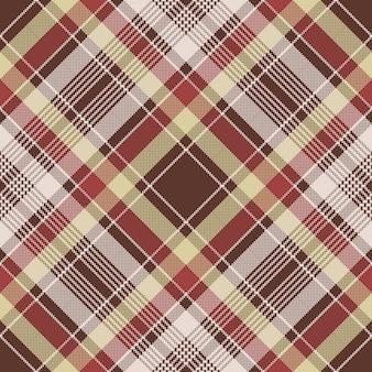 赤いピクセル生地テクスチャ格子縞のシームレスパターン