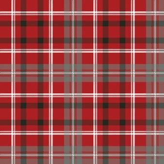 赤いピクセル格子縞のシームレスパターン