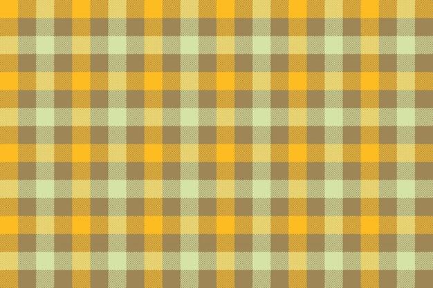 Желто-коричневый проверить ткань текстуры фона бесшовный фон