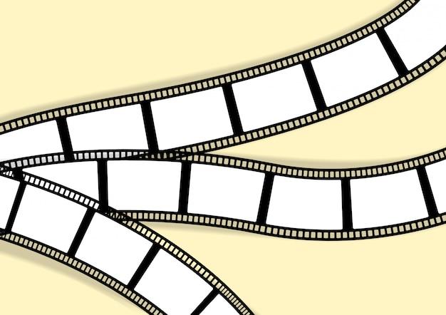 写真波状レトロフィルムストライプのテンプレート