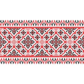 Текстура ткани национального образца горизонтальная