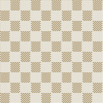 Квадратный бежевый узор бесшовные ткани текстуры