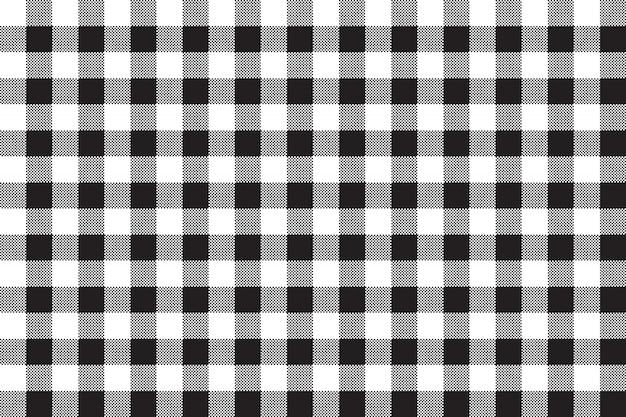 黒白いチェッカーボードチェックのシームレスな背景