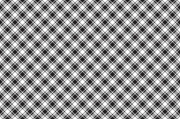 Черно-белая диагональная проверка текстуры бесшовный фон фон