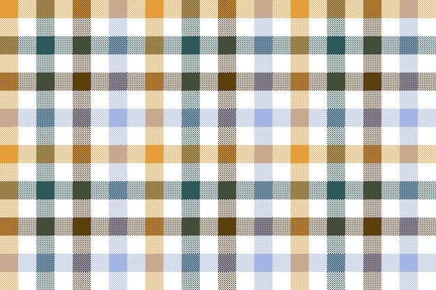 色のチェック柄のシームレスなパターン
