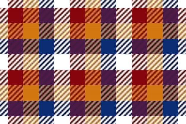 Цветная клетчатая бесшовная текстура ткани