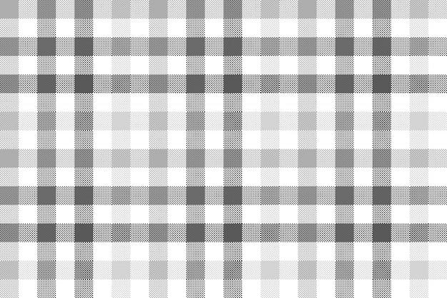グレーチェック格子縞のシームレスパターン