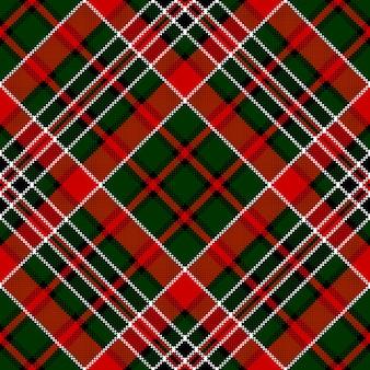 緑赤斜めチェック正方形ピクセルのシームレスパターン
