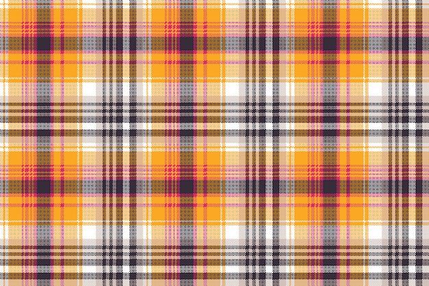 Оранжевый белый пиксель бесшовных текстур ткани