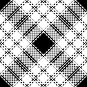 ピクセルモノクロチェック柄シームレスパターン