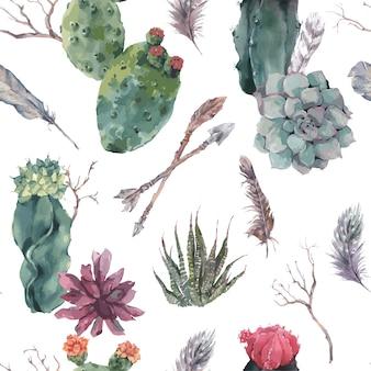 Цветочный фон с ветвями и сочными