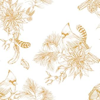 ヴィンテージ花柄シームレス