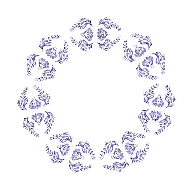 ウクライナの青い花輪。