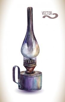 ヴィンテージ灯油ランプ