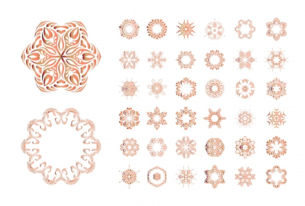 オレンジ色の花曼荼羅絶縁