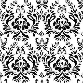 花の背景とのシームレスなパターン。
