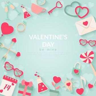 幸せなバレンタインデーのベクトルの背景